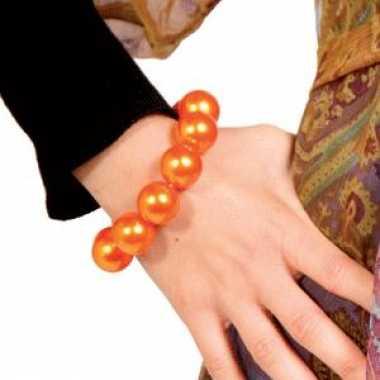 Oranje sieraden armband