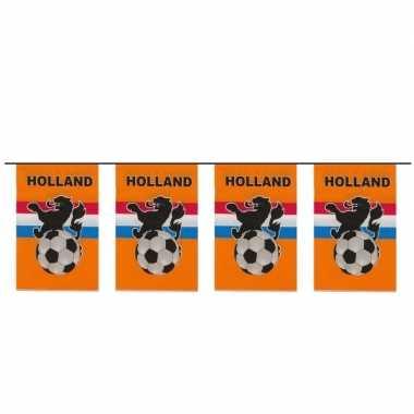 Oranje slinger met voetbal 10 meter