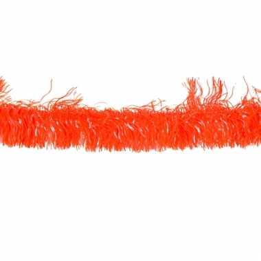 Oranje slingers 4 meter
