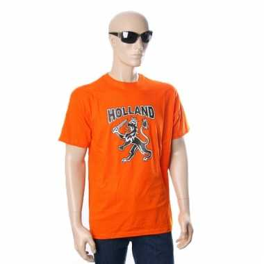 Oranje t-shirt met hollandse leeuw