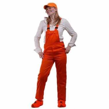 Oranje tuinbroek voor kids