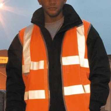 Oranje veiligheids vest 3m reflectie