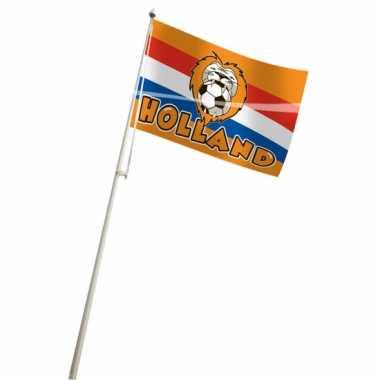 Oranje vlag 100x150 cm voetbal