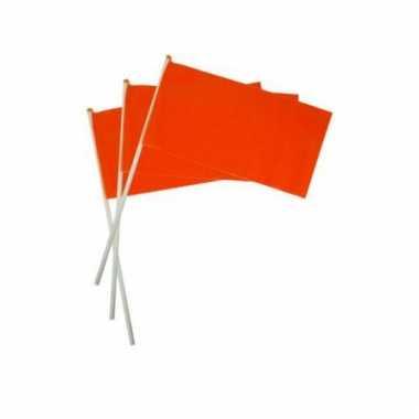 Oranje zwaaivlaggetje