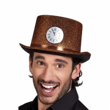 Oud en nieuw hoed met klokje