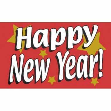 Oud en nieuw vlag happy new year!