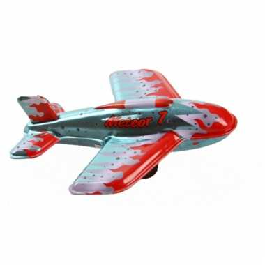Oud speelgoed vliegtuigje meteor 7 11 cm