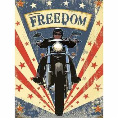 Ouderwetse wandplaat freedom