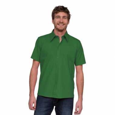 Overhemd met korte mouw voor heren groen