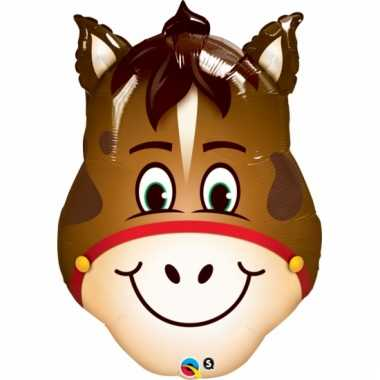 Paarden folie ballon 80 cm