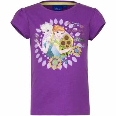 Paars t-shirt frozen voor meisjes