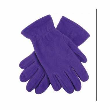 Paarse fleece handschoenen voor mannen en dames