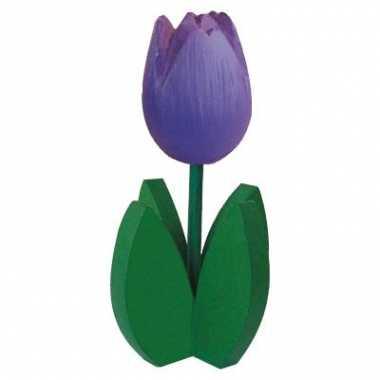 Paarse tulp souvenir 14 cm