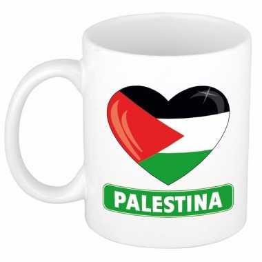 Palestijnse vlag hart mok / beker 300 ml