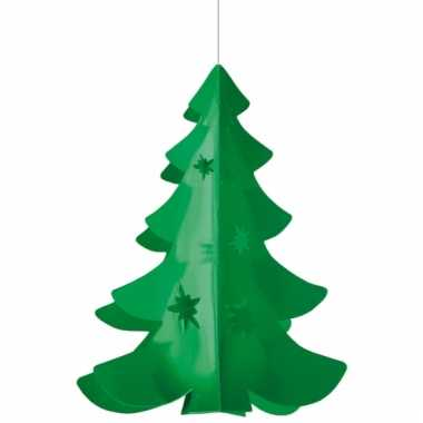 Papieren hangdecoratie kerstboom
