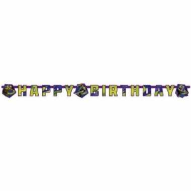 Papieren happy birthday slinger ninja turtles