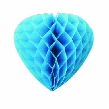 Papieren hart fel blauw 30 cm