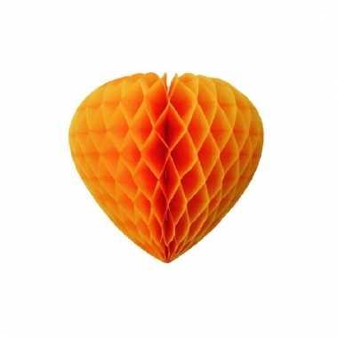 Papieren hart oranje 30 cm