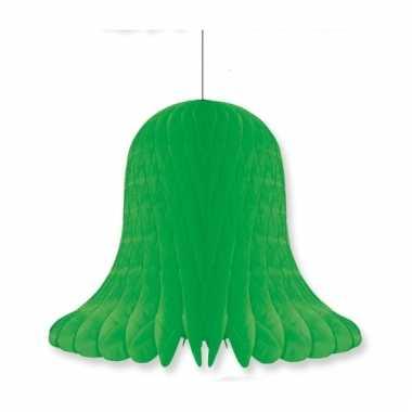 Papieren klok groen 30 cm