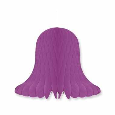 Papieren klok violet 20 cm
