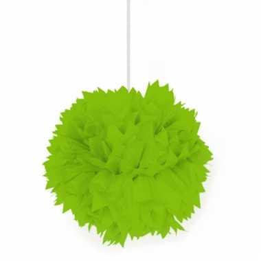 Papieren pompom bollen lime groen
