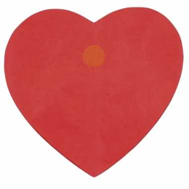 Papieren rode hartjes slinger