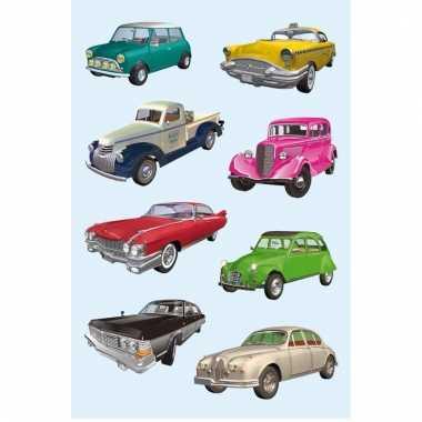 Papieren stickers voertuigen 3 stuks