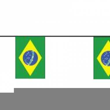 Papieren vlaggenlijnen brazilie