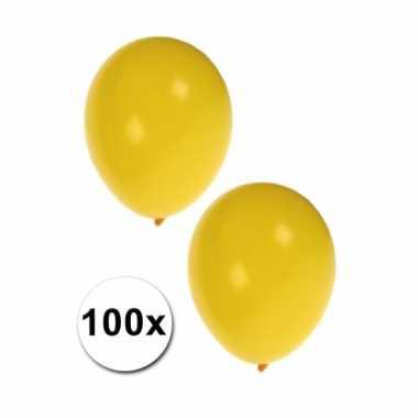 Party ballonnen geel 100 stuks