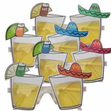 Party bril met tequila glaasjes