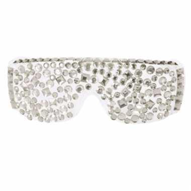 Party bril met zilveren nep diamant