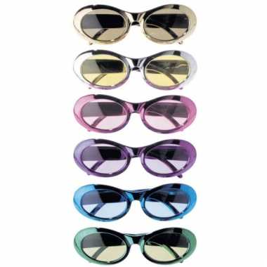 Partybril gekleurd metalic