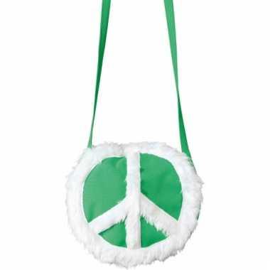 Peace schoudertas groen