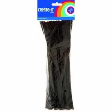 Pijpenragers zwart 30 cm 50 st