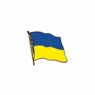 Pin speld vlag oekraine 20 mm