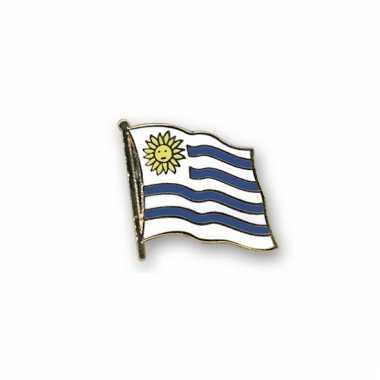 Pin speld vlag uruguay 20 mm