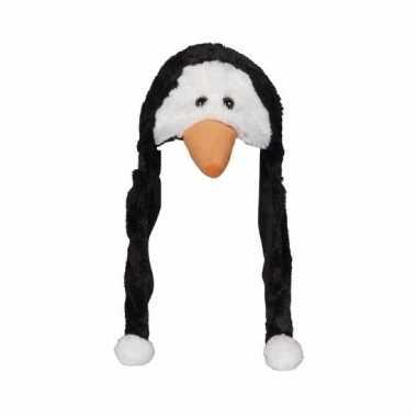 Pingu?n mutsen pluche met flappen 18 cm