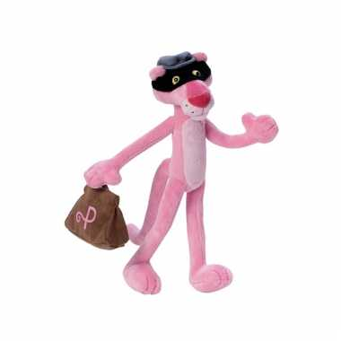 Pink panther dief knuffel 24 cm