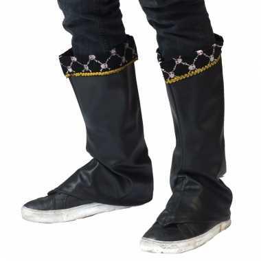 Piraat verkleedaccessoire laarshoezen/schoenhoezen voor heren