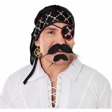 Piraten bandana zwart
