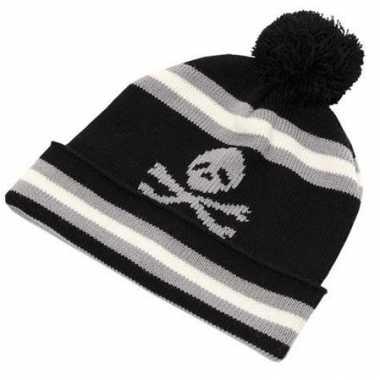 Piraten kinder wintermuts van wol