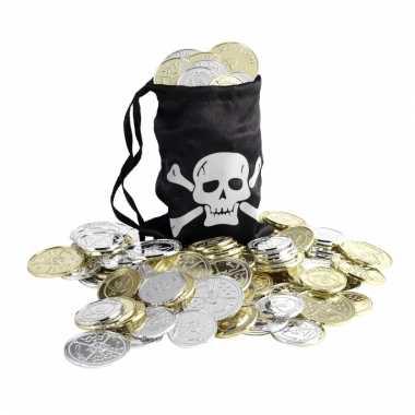 Piraten muntjes met zwarte buidel