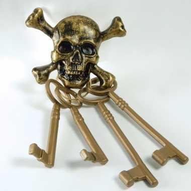 Piraten schatkist sleutels