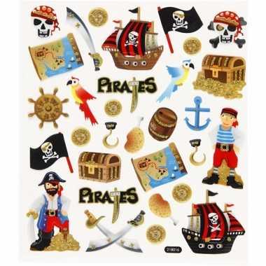 Piraten thema kinder stickers