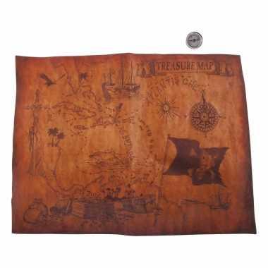 Piraten thema schatkaart