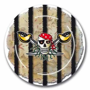Piraten verjaardag bordjes 8x