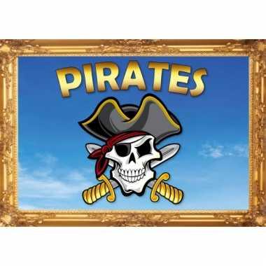 Piraten wandversiering poster pirates