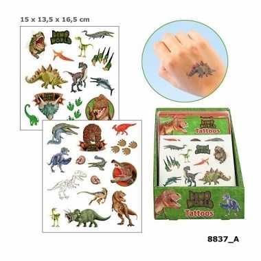 Plak tatoeages dinosaurus 2 vellen