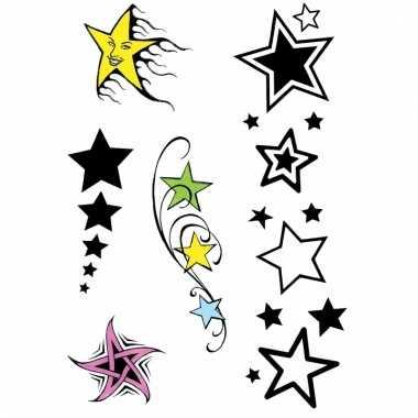 Plak tatoeages sterren