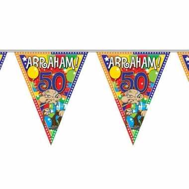 Plastic abraham 50 jaar vlaggenlijn